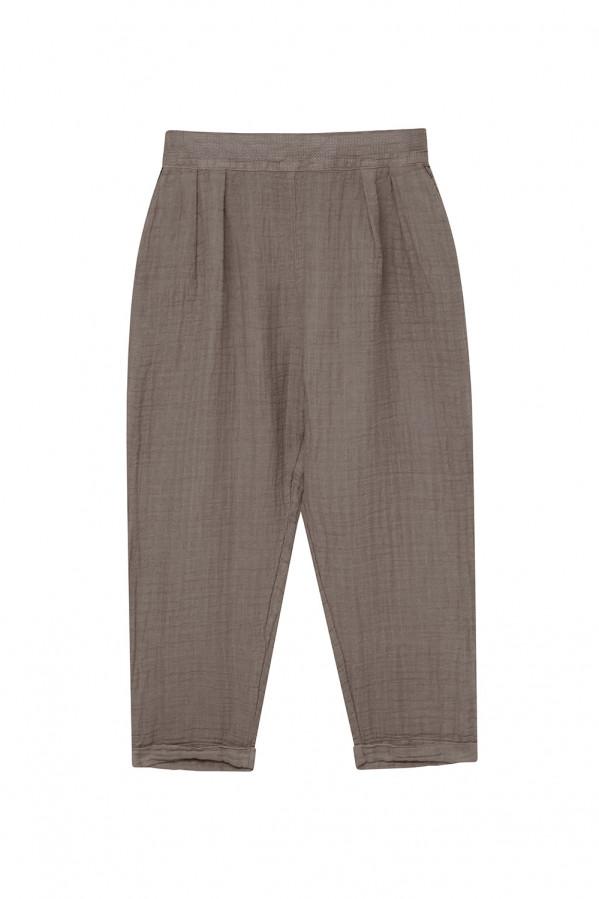 Pantalón lino-algodón piedra, 50% lino,50% algodón.