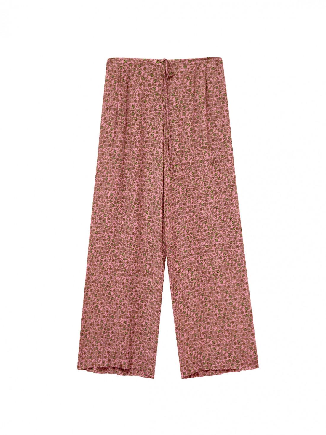 Pantalón estampado coral Mi&Co, con cintura elástica y cordón