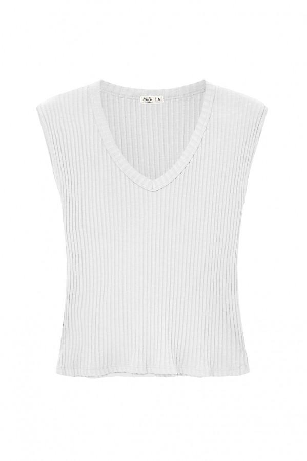 Camiseta blanca de 96% algodón 4% elastano