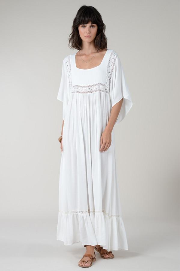 Vestido blanco ibicenco Molly Bracken