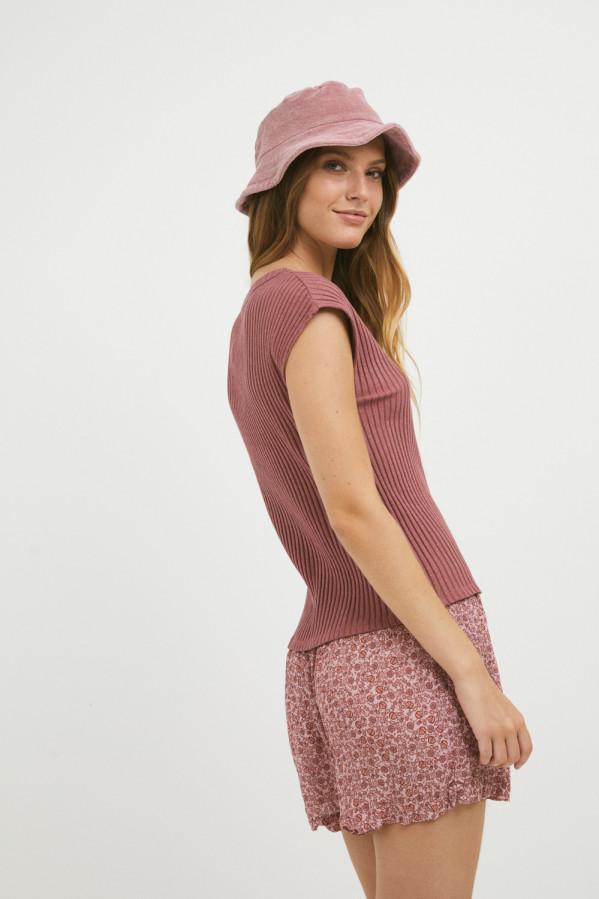 Camiseta Mi&Co frambuesa 96% algodón, 4% elastano