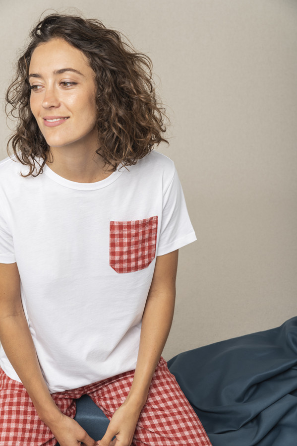 Camiseta cuello redondo, manga corta Graine 100%algodón orgánico
