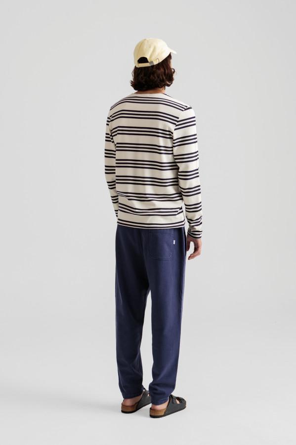 Camiseta de cuello redondo y manga larga 100% algodón orgánico